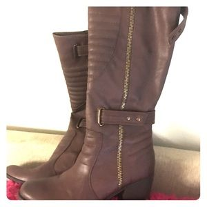 Rare Like New brown leather boots Carlos Santana